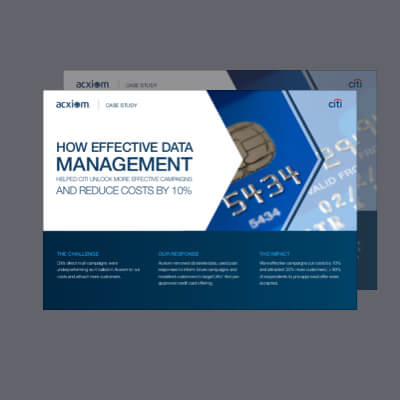 [Case Study]<br />How Effective Data Management Helped a Global Bank Unlock More Effective Campaigns